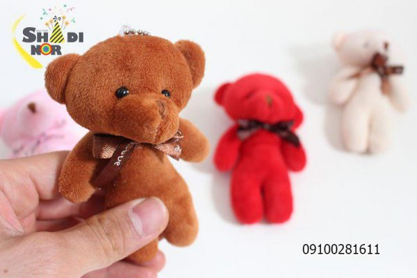 مینی عروسک خرس_فروش عمده اینترنتی آویزانی مینی عروسک خرس در نایکر