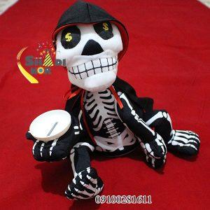 سفارش عمده لوازم شوخی و لوازم هالووین عروسک اسکلت سکه خور