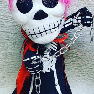 پخش عمده لوازم شوخی و لوازم هالووین عروسک اسکلت زنجیر دار